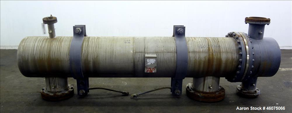 Used- J.F.D. Tube & Coil Products U Tube Shell & Tube Heat Exchanger, Approximate 909 Square Feet, Horizontal. SB-434-825 In...