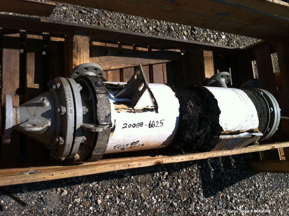 "Used- AstroCosmos Shell & Tube Heat Exchanger, 25 Square. Feet, Vertical. Type BEM-8-1-48. (32) 3/4"" Diameter x 48"" long Tan..."