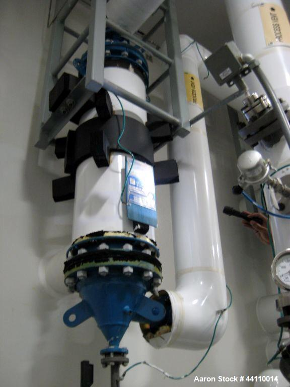 Used- AstroCosmos Metallurgical Tantalum Vertical Heat Exchanger / Condenser, 45 Square Feet