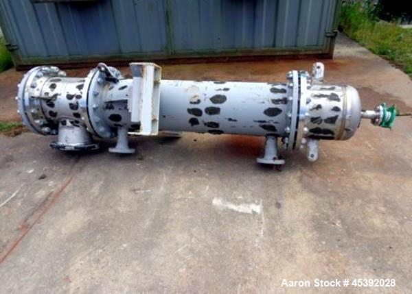Used- Astro Cosmos Shell & Tube Heat Exchanger, Approximate 69 Square Feet (6.5 Square Meter). Carbon steel shell approximat...