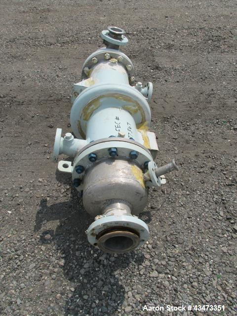 """Used- Atlas Heat Exchanger, 50 Square Feet. Hastelloy C276 tubes, tube sheets and bonnets with (85) 0.75"""" diameter x 36"""" lon..."""