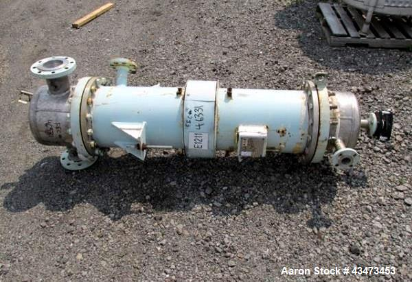 """Used- Atlas Shell & Tube Heat Exchanger, 110 Square Feet. Hastelloy C276 tubes tube sheets and bonnets with (141) .75"""" diame..."""