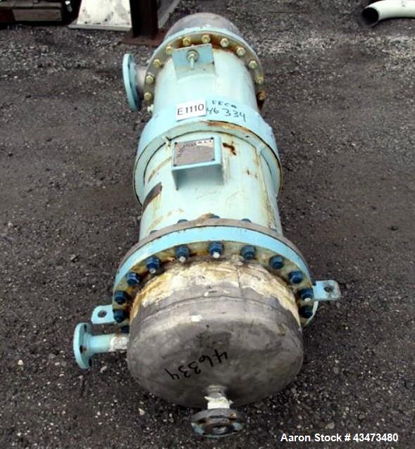 """Used- Atlas Shell & Tube Heat Exchanger, 204 Square Feet. Hastelloy C276 tubes tube sheets and bonnets with (260) .75"""" diame..."""