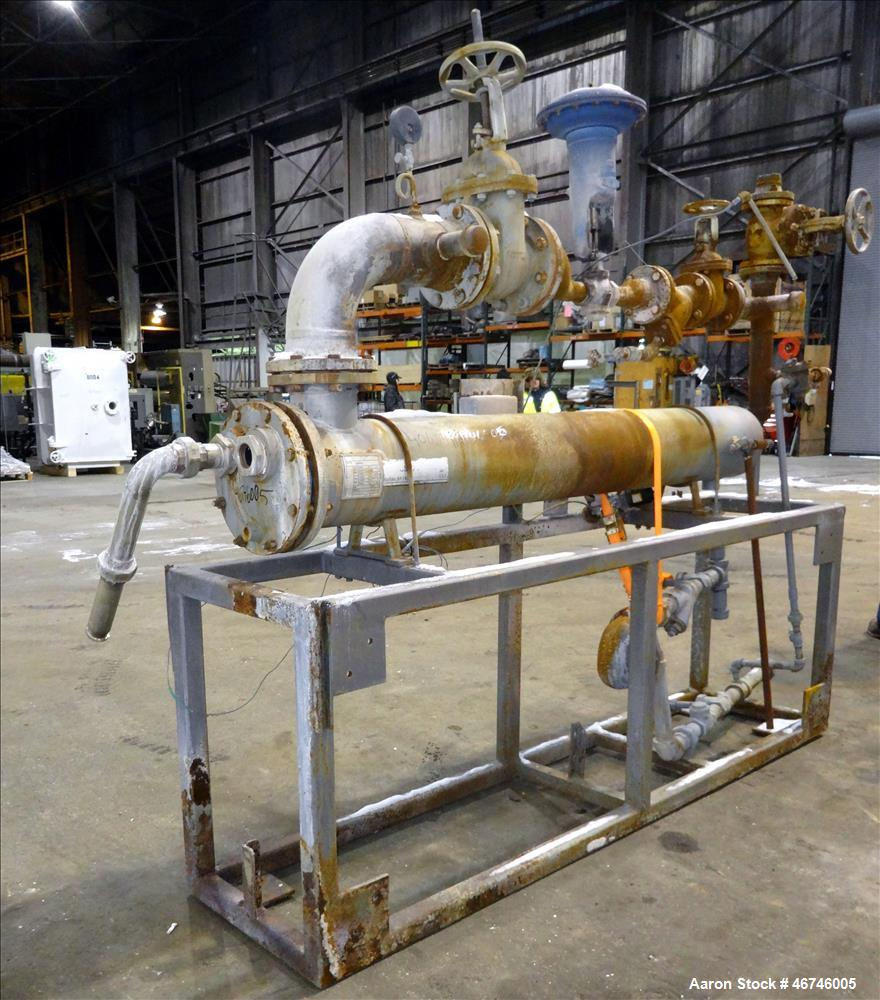 Used- Fluid Handling, Xylem U Tube Heat Exchanger, Approximate 169 Square Feet, Horizontal. Carbon steel shell rated 150 psi...
