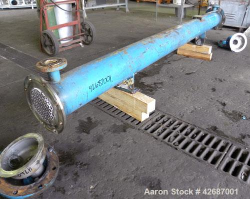 Used- CMS Heat Transfer Division Single Pass Shell & Tube Heat Exchanger, 107 Square Feet, Type BEM, Horizontal. Carbon stee...