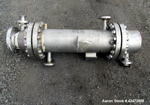 """Used- Cosmos Shell & Tube Heat Exchanger, 45 Square Feet. Hastelloy C22 tubes and bonnets. (76) 0.75"""" diameter x 32"""" long tu..."""