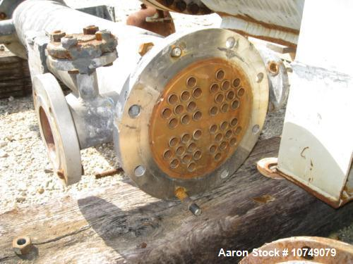 Used-Cust-O-Fab Heat Exchanger, shell and tube