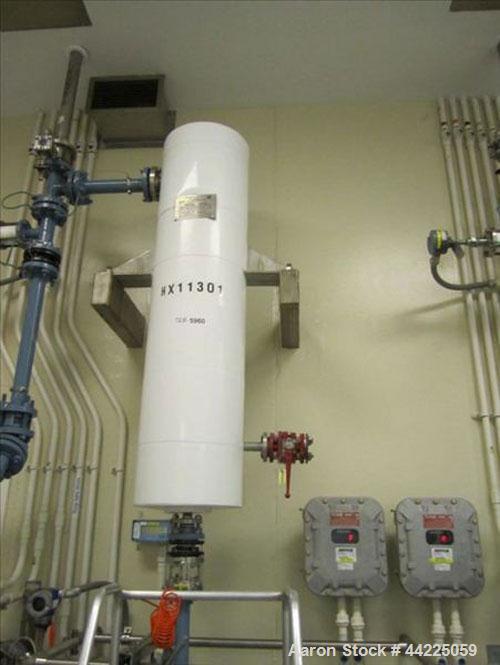 "Used- Doyle & Roth Vertical Heat Exchanger, 18 Square Feet, Model VT661-3VE. (31) 3/4"" Diameter x 36"" long Hastelloy C276 tu..."