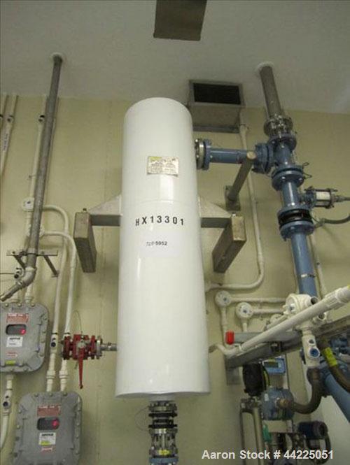 "Used- Doyle & Roth Vertical Heat Exchanger, 33 Square Feet, Model VT861-3VE. (85) 3/4"" Diameter x 24"" long Hastelloy C276 tu..."