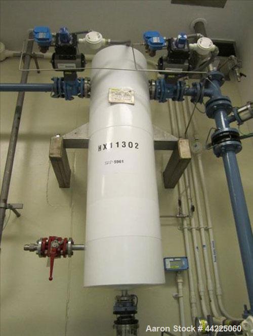 "Used- Doyle & Roth Vertical Heat Exchanger, 20 Square Feet, Model VT861-3VE. (34) 3/4"" Diameter x 36"" long Hastelloy C276 tu..."