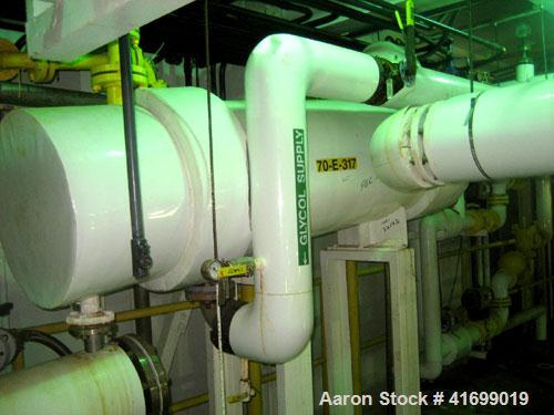 "Used- Doyle & Roth Heat Exchanger, 310 square feet. Hastelloy C276 tubes, tube sheets, and bonnets. (316) 3/4"" diameter x 5'..."