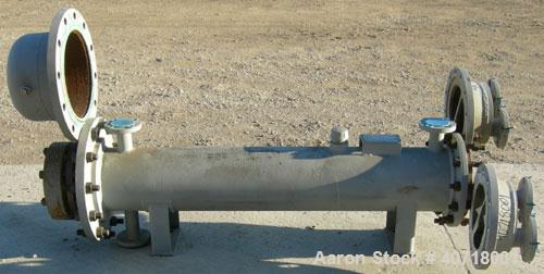 Used- Horizontal Fansteel Special Structures 2 Pass Heat Exchanger, 33 square feet