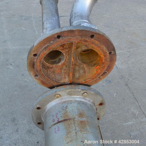 Used- Horizontal ITT Bell & Gossett 2 Pass U Tube Heat Exchanger, 49 Square Feet, Model SU86-2