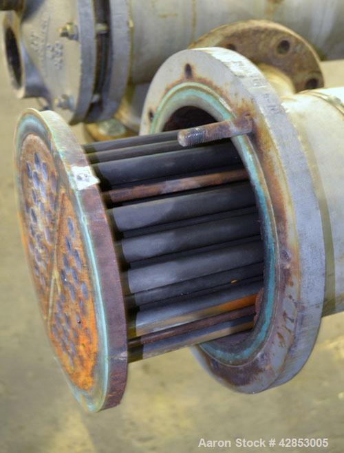Used- ITT Bell & Gossett 2 Pass U Tube Heat Exchanger, 49 Square Feet, Model SU86-2, Horizontal. Carbon steel shell rated 15...
