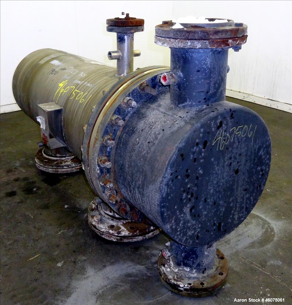 Used- J.F.D. Tube & Coil Products U Tube Shell & Tube Heat Exchanger, Approximate 454 Square Feet, Horizontal. SB-434-825 In...