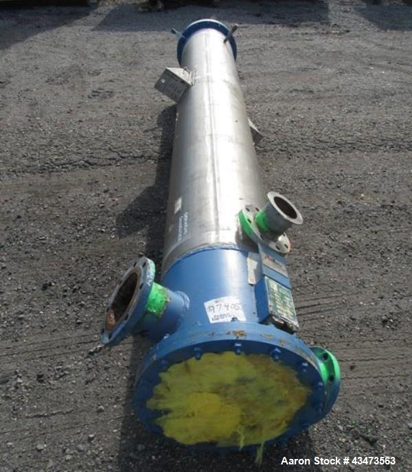 Used- Kam Thermal Shell & Tube Heat Exchanger, 490 Square Feet. Hastelloy C276 tubes, tube sheets rated 100 psi & Full Vacuu...