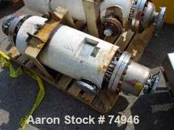 USED: Ketema single pass shell and tube heat exchanger, 39 square feet, size 8-A-36, Alloy 20 product contact areas, horizon...