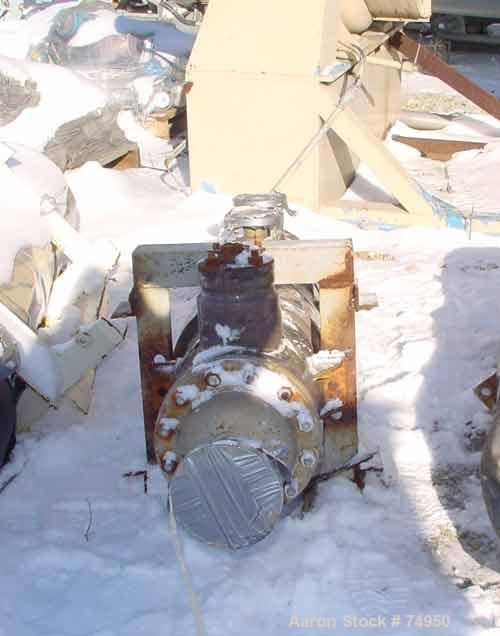 Used-Vertical Ketema Single Pass Shell & Tube Heat Exchanger, 36 Square Feet