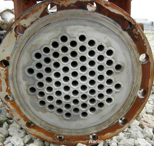 USED: Ketema Single Pass Shell and Tube Heat Exchanger, 39 square feet, size 8-A-36, horizontal. Carbon steel shell rated 15...