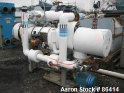 Used: Horizontal Carbone Single Pass Shell and Tube Heat Exchanger, Model PYT10-31-6, 58 Square Feet