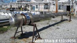 "Unused - Inconel 600 (high nickel) Shell and Tube Heat Exchanger, Approximately 500 Square Foot (105) 3/4""OD x 24' Length Tube"
