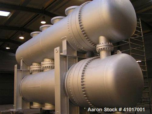 Used-Unused-Sheet and Tube Heat Exchanger built for a large scale environmental project to use industrial residual heat for ...