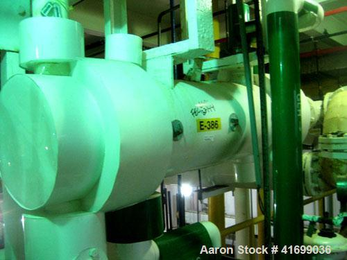 Used- Perry Products Heat Exchanger, 99 square feet, model 12-99-FTSX. Hastelloy C276 tubes, tube sheet, and bonnets. (126) ...