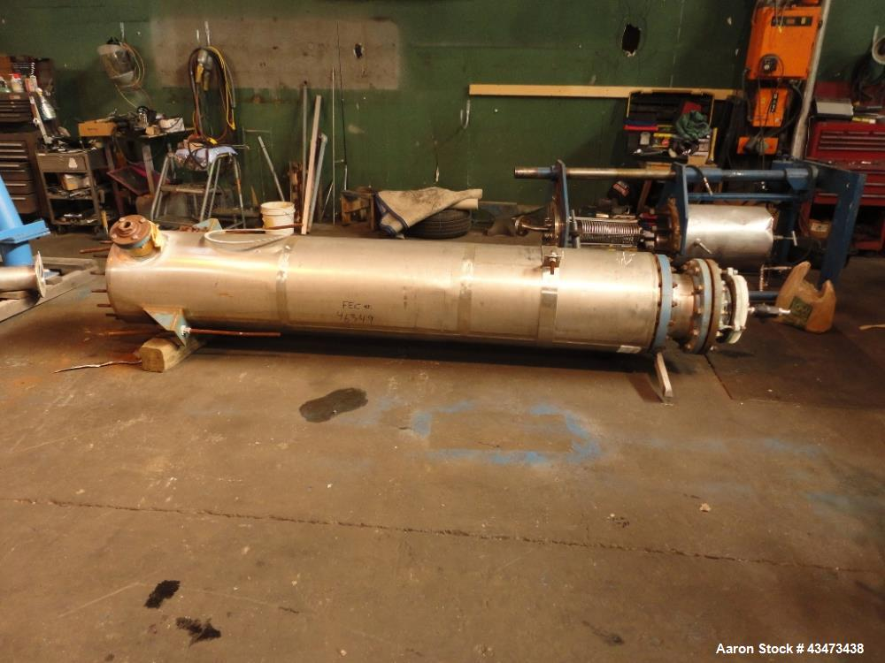 "Used- Pfaudler Shell & Tube Heat Exchanger, 367 Square Feet. Hastelloy C276 tubes, tube sheets and bonnets with (208) 0.75"" ..."