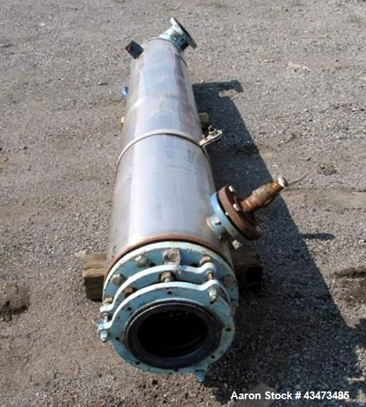 "Used- Pfaudler Shell & Tube Heat Exchanger, 119 Square Feet. Hastelloy C276 tubes, tube sheets. (76) 0.75"" Diameter x 8' lon..."