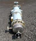 Used- Atlas Shell & Tube Heat Exchanger, 110 Square Feet. Hastelloy C276 tubes tube sheets and bonnets with (141) .75