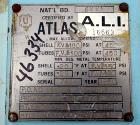 Used- Atlas Shell & Tube Heat Exchanger, 204 Square Feet. Hastelloy C276 tubes tube sheets and bonnets with (260) .75