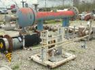 Used- Chemineer Single Pass Shell and Tube Heat Exchanger, 32 square feet, horizontal, type BEM 6-56
