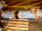 USED: Cosmos shell and tube heat exchanger, 123 square feet, horizontal. Carbon steel shell rated 150 psi/FV at 400 deg F, t...