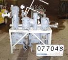 USED: Fox Valve 2 stage jet with Y-Z inter-condenser. Model 6x36 aftercondenser. Hastelloy construction. Rated fv/30 psi at ...
