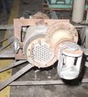 Used- Ketema Single Pass Shell & Tube Heat Exchanger, 36 Square Feet, Size 8-B-42. Carpenter 20 product contact areas, verti...