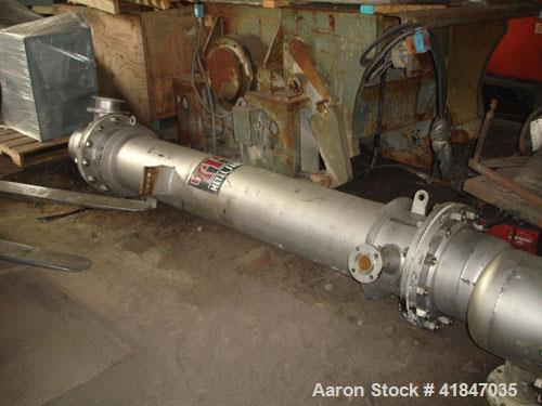 Used- Titan Metal Fabricators Shell and Tube Heat Exchanger, 219 square feet, vertical. 304L Stainless steel shell rated FV/...