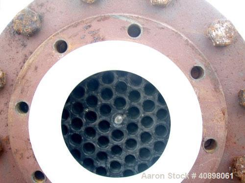 Used- Vertical Titanium Industries Shell and Tube Heat Exchanger, 141 square feet