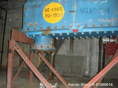 Used-Vicarb Heat Exchanger, graphite block.