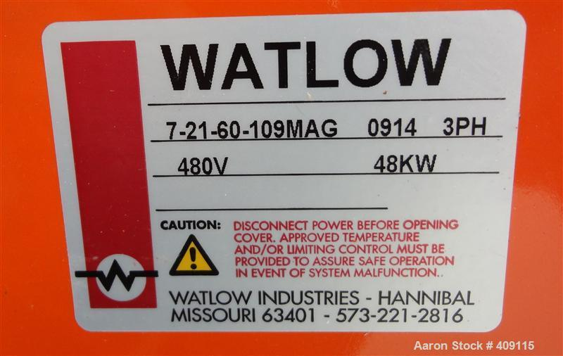 Unused- Watlow Flange Heater, Model 7-21-60-109MAG. Element material Incoloy 800. 3/60/480 volt, 48 KW. 304 Stainless steel ...