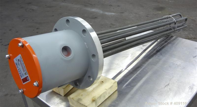 Unused- Watlow Flange Heater, Model FNNP733G520. Element material Incoloy 800. 3/60/480 volt, 24 KW. 304 Stainless steel mou...