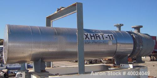 Used- Atlas U Tube Heat Exchanger, approximately 35 square feet, horizontal. Carbon steel construction. Shell rated fv/150 p...