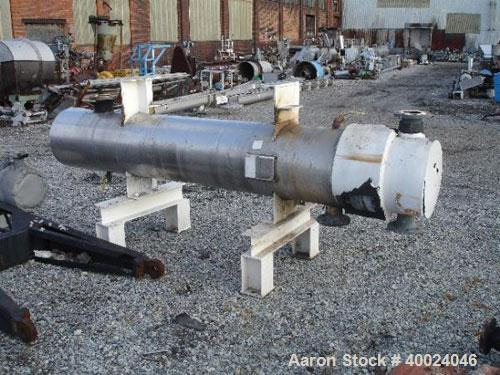 Used- Atlas U Tube Heat Exchanger, approximately 119 square feet, horizontal. Carbon steel shell rated fv/150 psi at 300 deg...
