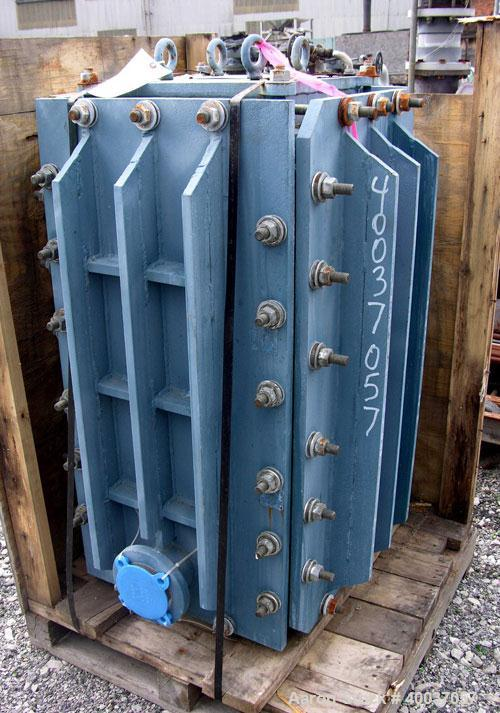 Used- Carbone Graphilor Polyblock Heat Exchanger, Model K300/150-16. Process side 291 square feet, service side 147 square f...