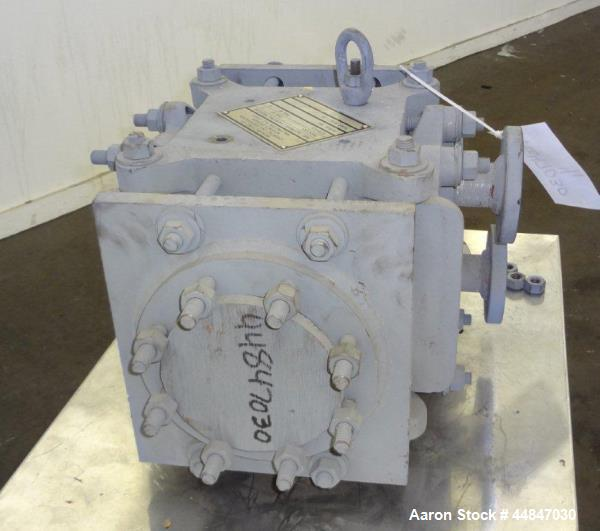 Used- Carbone Graphite Block Type Heat Exchanger, Approximately 10 Square Feet