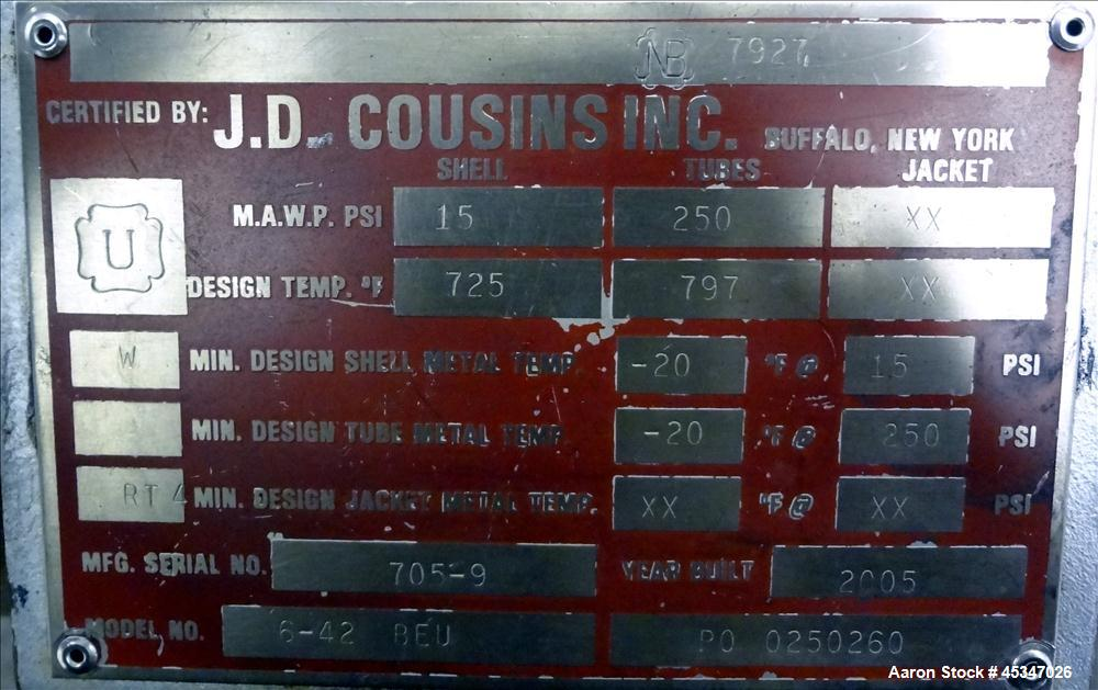 Used-J.D Cousins Inc  Fluidizing Gas Heater for Stabilizer, Model 6-42BEU