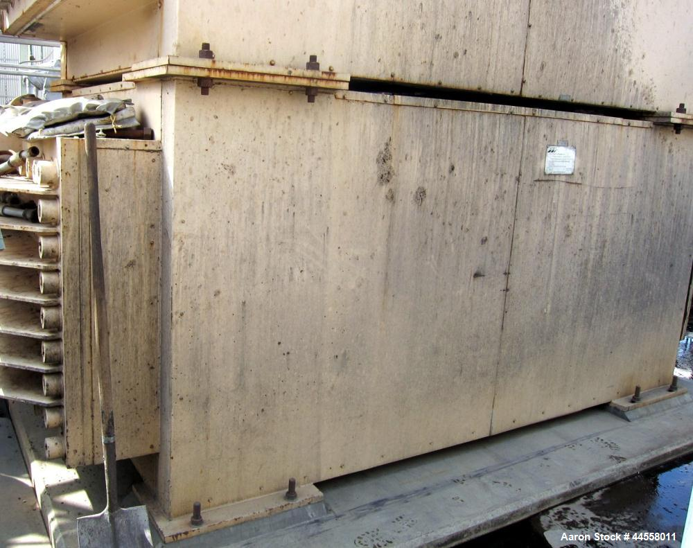 Used-DDI Heat Recovery Heat Exchanger, Model DDI-2 X 2 X 12 X 3 X 18 X 11 X 0.3125M-600. Split Water  Utilized as a slurry c...