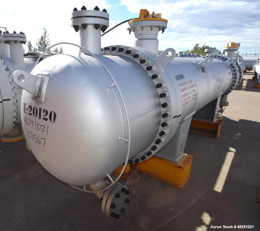 Unused- Ilsung Corporation 8 Pass Shell & Tube Heat Exchanger, Approximate 975 S