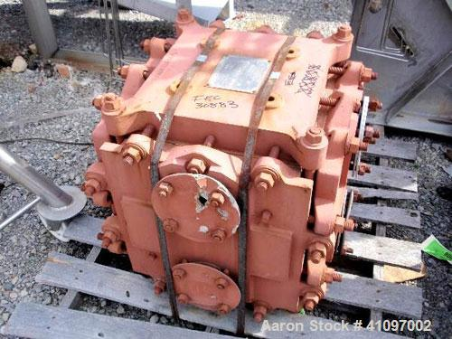 Used- Kearney Graphite Block Type Heat Exchanger, 55 square feet, model 55/55. Graphite contact areas. Shell and tubes rated...