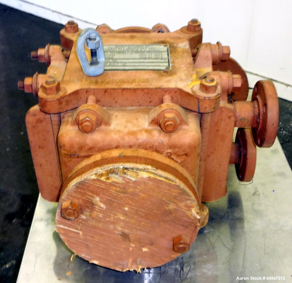 Used- Kearney Graphite Block Type Heat Exchanger, approximately 10 square feet