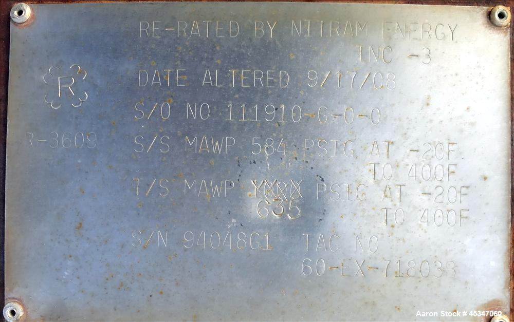 Used- Nitram Energy Inc Heat exchanger